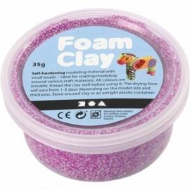 Foam Clay potje 35 gram neon paars