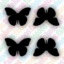 Mini vlinders glittertattoo sjabloon