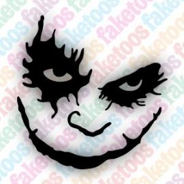 The Joker glittertattoosjabloon
