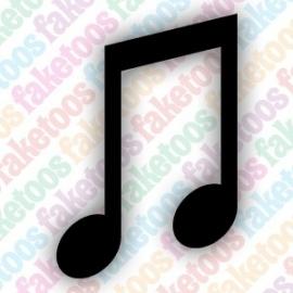 Muzieknoten glittertattoo sjabloon