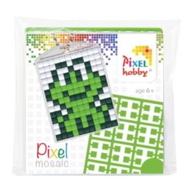 pixelhobby kikker sleutelhanger medaillon