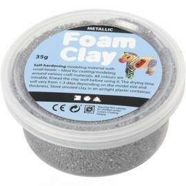 Foam Clay potje 35 gram zilver metallic