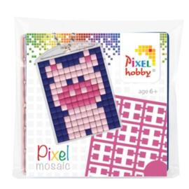 pixelhobby varken sleutelhanger medaillon