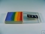 Rainbow SP4 klein vierkant  Blurred Lines ( fuchsia/goudgeel/geel/zeegroen/pastelblauw/lavendel)