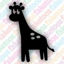 Giraffe glittertattoo sjabloon