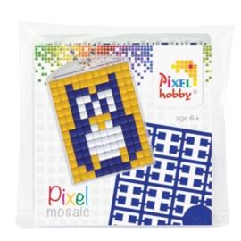 pixelhobby uil sleutelhanger medaillon