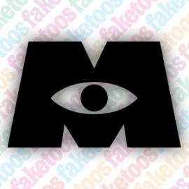 Monster Inc logo glittertattoosjabloon