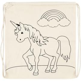 Unicorn rugzakje  ( excl. textielstiften om te kleuren)