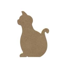 MDF zittende kat 10 cm