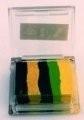 Rainbow SP3 klein vierkant  Cucumber Rage ( zwart/goud/d. groen/l.groen/geel )