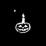 sjabloon pompoen met kaarsje halloween gb
