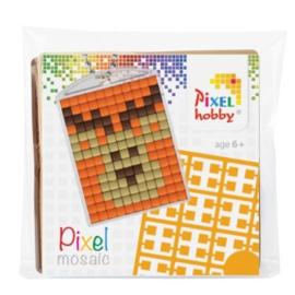 pixelhobby hert sleutelhanger medaillon
