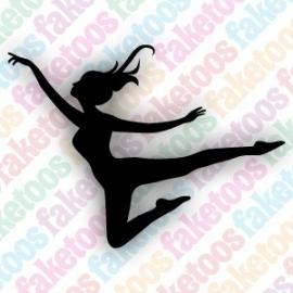 Danssprong glittertattoo sjabloon