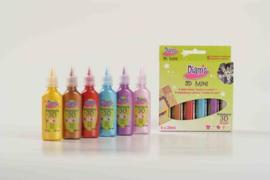 Diam's 3D verf mini-kit Total Fashion 6x20 ml