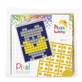 pixelhobby muis sleutelhanger medaillon