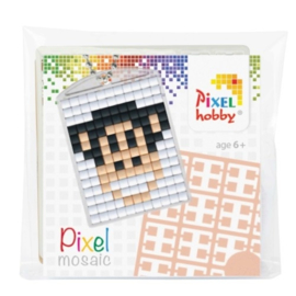 pixelhobby doosje aapje sleutelhanger medaillon