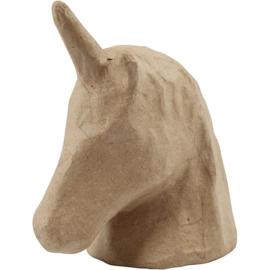 Unicorn  hoofd van papiermache