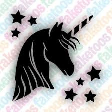 Eenhoorn unicorn sjabloon glittertattoo