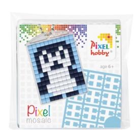 pixelhobby pinguin sleutelhanger medaillon