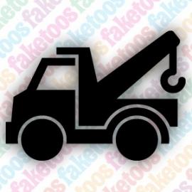Truck glittertattoo sjabloon