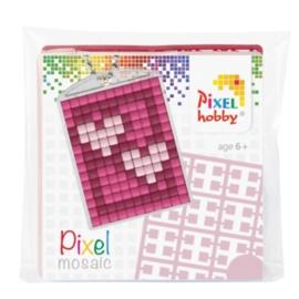 pixelhobby hartjes sleutelhanger medaillon