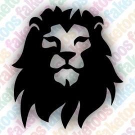 Leeuw 1 glittertattoo sjabloon