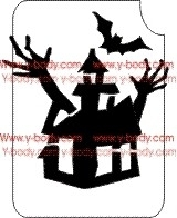 Sjabloon Scary House Product Code 854C