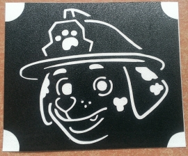 Paw Patrol Marshall gezicht glittertattoosjabloon