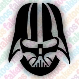 Darth Vader uit Star Wars glittertattoosjabloon
