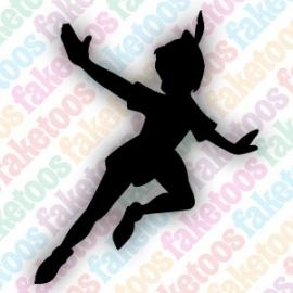 Peter Pan glittertattoosjabloon