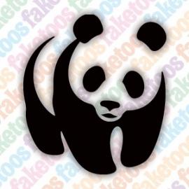 Panda glittertattoo sjabloon