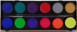 Palet combi Neon en Metallic 6 om 6 a 10 gram  DFX FSM12NM