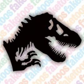 T-Rex glittertattoo sjabloon
