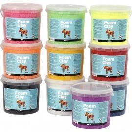 Foam Clay emmertjes- set  560 gram, 10 kleuren