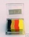 Rainbow SP6 klein  vierkant( zwart/goud/oranje/neongeel)