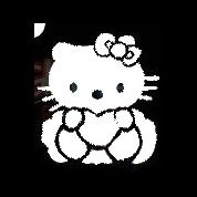 sjabloon Hello Kitty met hartje gb