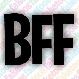 BFF tekst glittertattoo sjabloon
