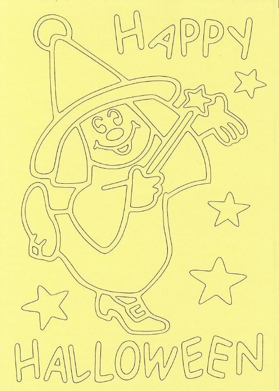 Voorbeeld zandkaart Halloween  Happy