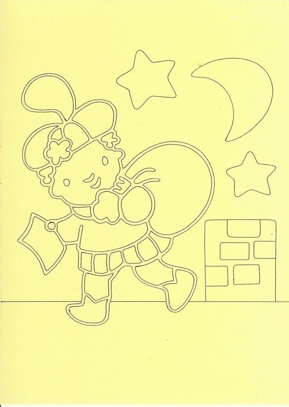 Voorbeeld zandkaart sinterklaas  Piet op het dak