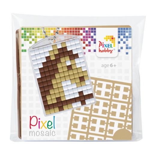 pixelhobby paard sleutelhanger medaillon