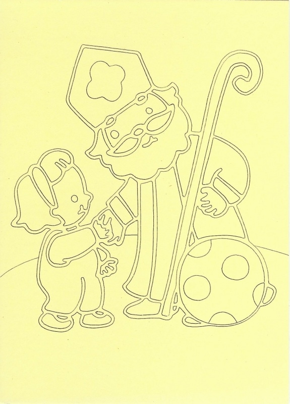voorbeeld zandkaart sinterklaas sint met kindje