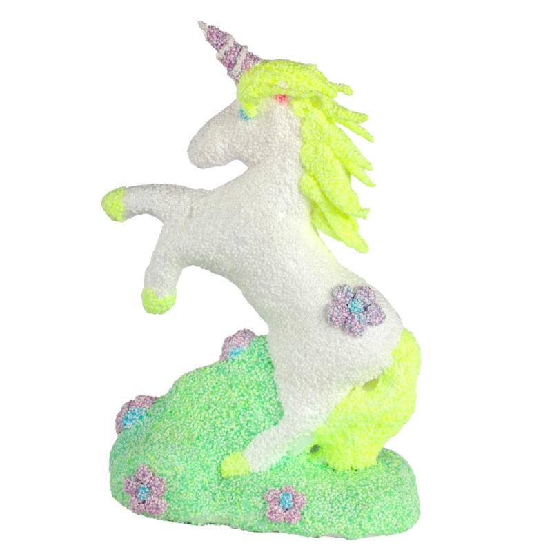 eenhoorn unicorn van styropor ( piepschuim) hg UITVERKOCHT
