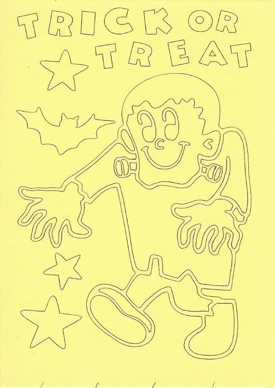 Voorbeeld zandkaart Halloween trick or treat 1