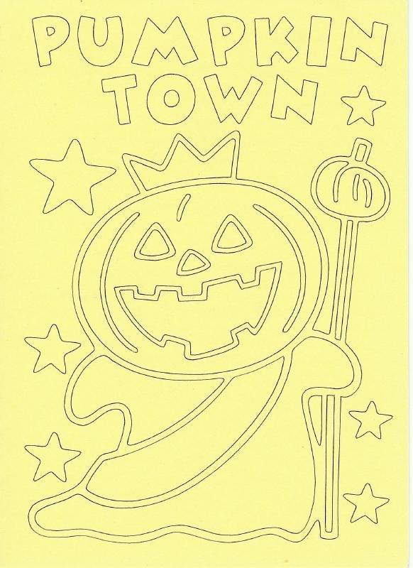 Voorbeeld zandkaart Halloween Pumpkin Town