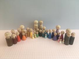 Regenboog GROTE familie met BRUINE oogjes