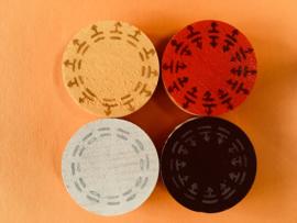Symbolen levenswiel (N, O, Z, W) Ø 4 cm