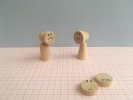 Set van 4 emotie-maskers