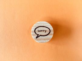 Praatwolkje - sorry
