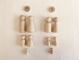 Beeldkracht set  - Variant B - Kleinere poppen, rechtere vormen  - prijs ca € 144,25