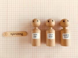 ONDERWEG FAMILIE (Poppetjes maat: XS / 3 generaties / 14 st)